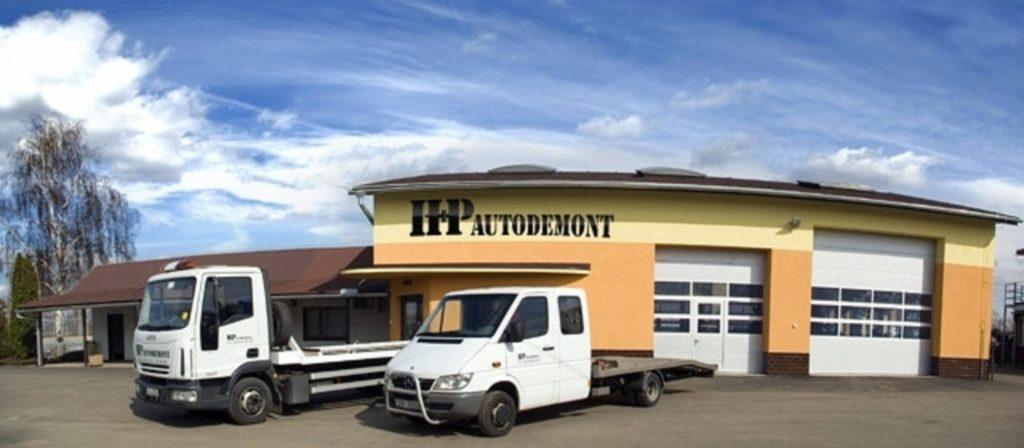 H+P Autodemont s.r.o. Budova Ekologické likvidace vozidel, likvidace autovraků, prodej náhradních autodílů